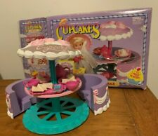 1990 Vintage Tonka Cupcakes Dolls Tea Party Cake Playset w/ Box, Accessories