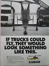 9/1993 PUB KAMAN K-MAX HELICOPTER CAMION TRUCK HELICOPTERE ORIGINAL AD