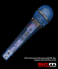MICROPHONE HANDHELD DYNAMIC UNIDIRECTIONAL TRANSPARENT BLUE  BODY WITH CABLE