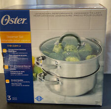 Oyster 3 Piece Steamer Stainless Steel Brand New In The Box