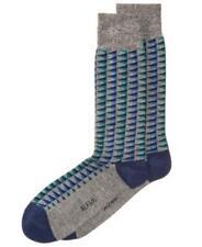 Alfani Triangle Midweight Socks Grey/Blue Mens 7-12 New