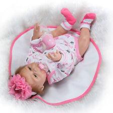 """20"""" Reborn Dolls Full Body Silicone Girl Vinyl Baby Doll Newborn Cute Baby Toy"""