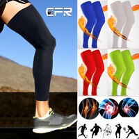 Copper Calf Leg Running Compression Sleeve Socks Shin Splint Support Wrap Brace