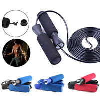 Weighted Skipping Rope Adjustable Speed Jump Fitness Gym Jumping Boxing Exercise