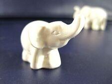 WHITE THAI MINI CUTE ELEPHANT DECORATIVE FENG SHUI ELEGANT FIGURINE STATUE