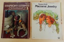 Fun set of 2 vintage 1970's macrame crafting magazines