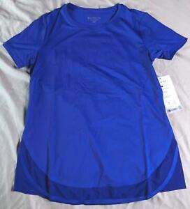 Athleta Women's Short Sleeve Cadence Tee T-Shirt EH9 Paradise Blue Size XXS NWT