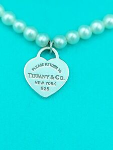 "Tiffany & Co Return To Tiffany 3mm Mini bead Pearl Bracelet 6.5"" Genuine"