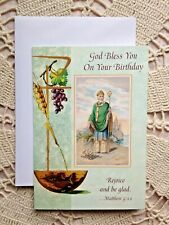 """God Bless You On Your Birthday"" ST. PATRICK  NEW, 6-1/2H x 4-1/2W with envelope"