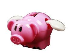 HAAC Solar Wackelschwein Schwein Wackelfigur mit Flügel Größe 10 cm Farbe rosa