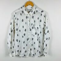 Country Road Womens Blouse Size Large (AU 12) Abstract Design Good Condition