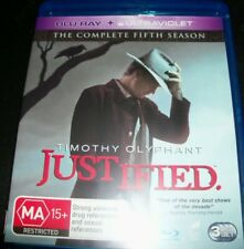 Justified Complete fifth Season 5 (Australia Region B) Bluray - Like New