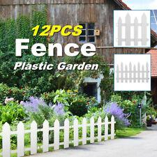 Plastic Fence Courtyard Indoor Garden Edging Border Panel Flower Yard  D3