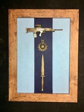 40 Commando Royal Marines Commemorative Frame with L85A2