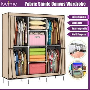 Extra Large Wardrobe Clothes Garmet Storage w/Hanging Rail Cabinet Room Closet