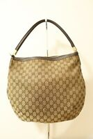 Authentic Gucci Canvas Brown Tote Bag #7907