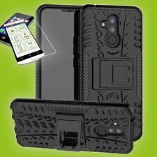 Para Huawei Mate 20 Lite Hybrid Bolsa Exterior 2 Piezas Negro Carcasa + H9