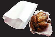 1000 x Hot Food White Bag Large 180 +60 x 350mm (40gm paper with 20gm PP lining)