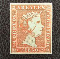 EF3i_63r. Spain ed 3, Isabel 5r. 1850, nuevo?. rojo oscuro. Ver bonito