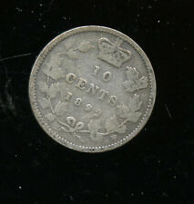 1892 Canada Silver 10 Cents VG CP519