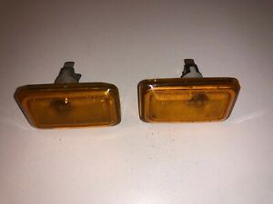 porsche 930 911 euro marker light turn signal fender euro ORANGE 75-89