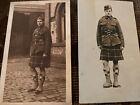 WWI RPPC Scottish Soldier In Kilt Portrait Photo Postcards X2