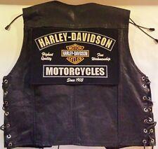"Harley Davidson Patch Backpatch ""Fine Workmanship ""XL 32x21cm MC Kutte Biker NEU"
