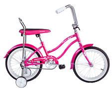 """16"""" Pink Kids Lowrider Bike Coaster Brake Training Wheels !"""