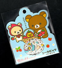Vintage RARE San-x Rilakkuma Stickers Sack Sticker Flakes Stationery Strawberry