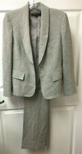 Anne Klein Suit Size 2P Pants Blazer Gray Lined Career Interview USA Charity