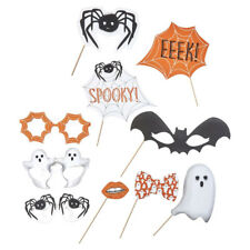 """10 tlg. Photo Booth """"Spooky Spider"""" Halloween Foto Verkleidung Props Party"""