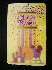 Walt Disney World 3-Park Annual Passport Photo ID Card 1990 Bar Code Laminated