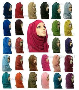 Ladies Fashion Big Large Maxi Long Wide Plain Viscose Scarf/Hijab Shawl/Wrap