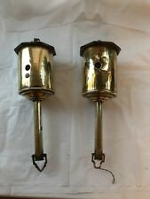 X2 Antique Salters Rotisserie Inglenook Fireplace Brass Roasting Wind Up  Rare
