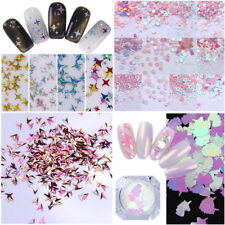 Glitter Holo Nail Sequins Powder Dust Kit Mixed Acrylic 3D Decoration Silver DIY