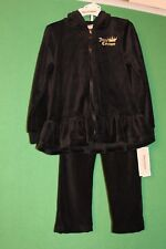 Black, Velour, Juicy Couture Toddler/Girls Tracksuit 3T Running Suit Princess