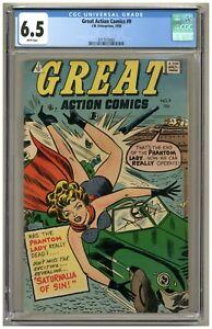 Great Action Comics #9 (CGC 6.5) White pgs; Phantom Lady reprints; 1958 (j#3365)