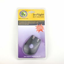In-Flight Retractable TELEPHONE Cord DATA Cable RJ11 MODEM Network PC MAC NEW