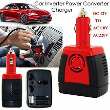 Car Power Inverter 12V DC to 110/220V AC Converter USB Charger Cigarette Lighter