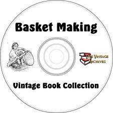 Basket Making Vintage Book Collection on CD -  Basket Weaving - Make Baskets