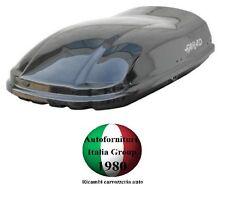 BOX BAULE PORTABAGAGLI TETTO AUTO FARAD MARLIN F3 N8 400LT NERO LUCIDO