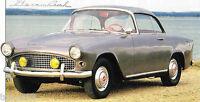 Simca PLEIN CIEL SPEC SHEET / Brochure: 1956,1957,1958,'59