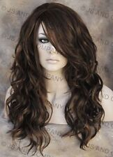 HEAT Safe Fiber Loose WAVY Brown Auburn blonde mix Wig WBGA 4-27-30