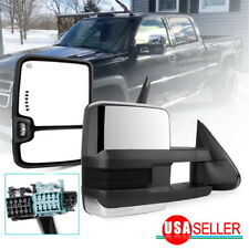 Tow Mirrors for 03-06 Chevy Silverado Sierra Chrome Power Heated Smoke Signals (Fits: Cadillac)