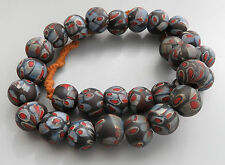 Vintage Ethnic Tribal Millefiori Glass Beads Necklace String GL52