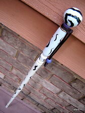Porcelain Knob ZEBRA CANE/walking-stick/Shillelagh~handmade in USA