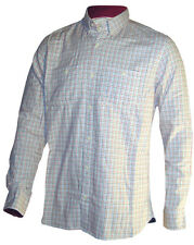 """MENS """"EX STORE"""" LONG SLEEVE COTTON LAUNDERED CHECK SHIRT CASUAL SMART SHIRT"""