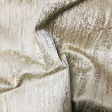 Champagne Gold Shiny Textured Tree Bark Curtain Fabric Material 137cm wide BR172