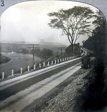 Keystone Stereoview Train, Car & Canal, Utica, New York 1910's Education Set # B