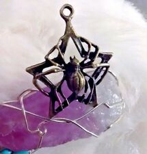 STUNNING WISH GRANTING Spider/Pentagram Pendant *GIFT* AMULET SPELL WICCA WITCH